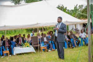 Cllr. Kalima Banda, TAMA Farmers Trust President at Mphomwa